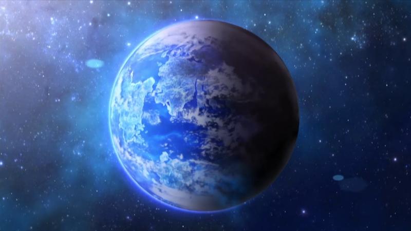 Prospettiva orbitale del mondo Pokemon…notare la sua somiglianza con la terra